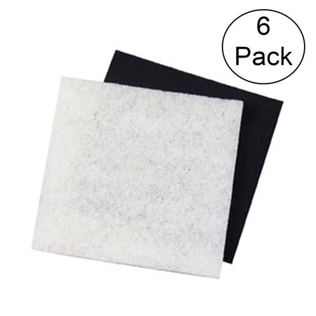 NEW! Pondmaster 1000 & 2000 Carbon & Coarse Poly Pad Replacement Filter (6 Pack) ()