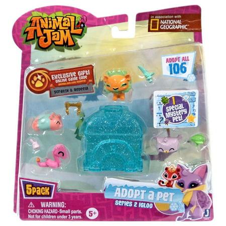 Animal Jam Adopt A Pet Series 2 Igloo Mini Figure 5-Pack