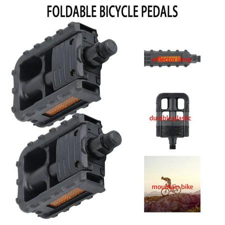 Universal Plastic Mountain Bike Bicycle Folding Pedals Non-slip Black - image 5 de 9