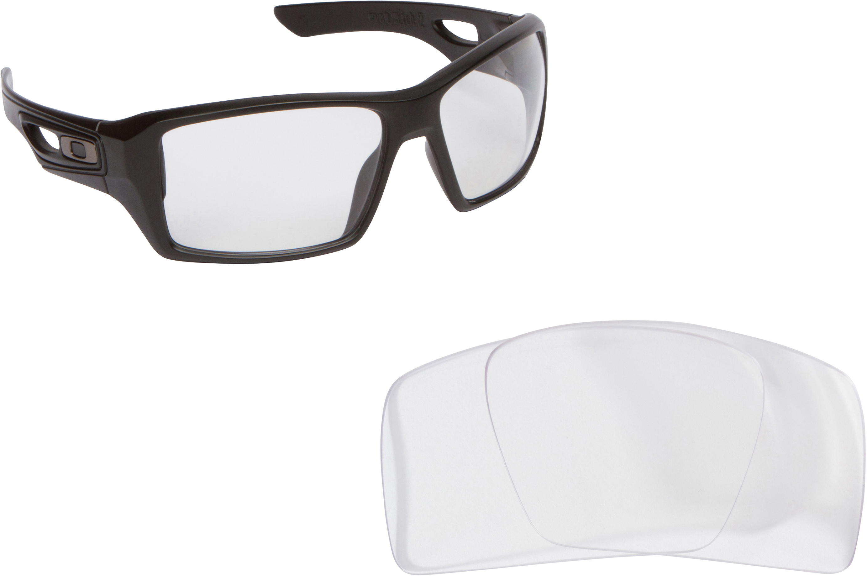 8200ae3f38 Eyepatch 2 Replacement Lenses Black   Crystal Clear by SEEK fits OAKLEY -  Walmart.com