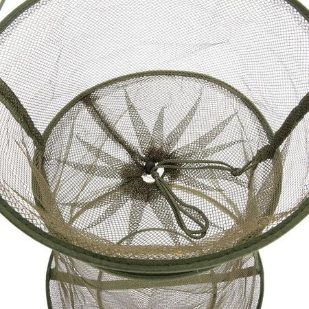 3 Layers Quick-dry Fishing Net Trap Net Mesh Net Folding Shrimp Nets Cage Fishing Tackle 4 Sizes - image 5 of 7