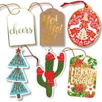 Jillson & Roberts Gift Tag Assortment, Christmas Designs (24 Tags)