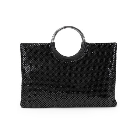 - Gunne Sax by Jessica McClintock Diane Metal Mesh Ring Clutch