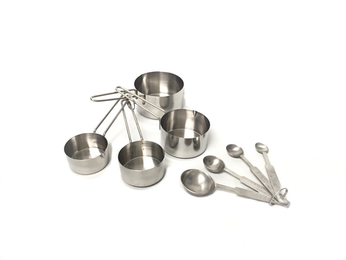 8-Piece Deluxe Stainless Steel Measuring Cup and Measuring Spoon Set, Engineered for precision accuracy to... by