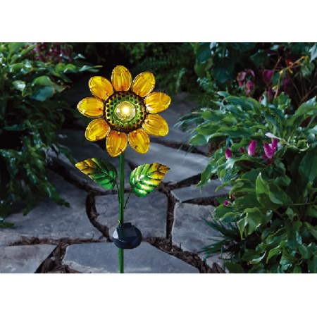 Better homes gardens solar sunflower stake light - Better homes and gardens solar lights ...