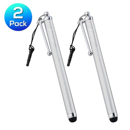 Insten 2X White Stylus Pen For Samsung Galaxy Tab 2 3 4 Pro / iPad Mini 3rd Air 2nd iPhone 6 6+ / Microsoft Surface