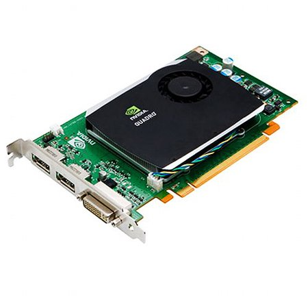 NVIDIA Quadro FX 580 by PNY 512MB GDDR3 PCI Express Gen 2 x16 DVI-I DL and Dual DisplayPort OpenGL, DirectX, CUDA and OpenCL Profesional Graphics