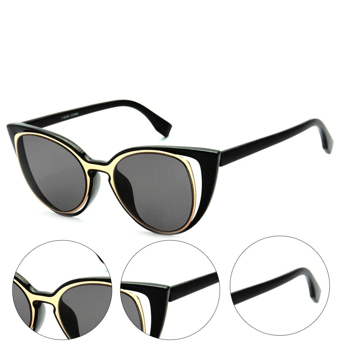MLC Eyewear Urban Fashion Double Frame Catty Cateye Women Sunglasses