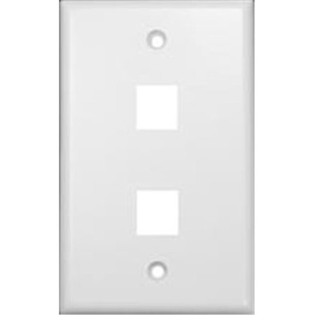 - Wallplate For Keystone Jacks And Modular Inserts Two Ports White