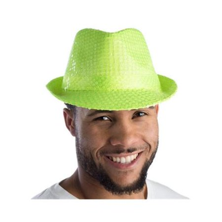 Green Sequined Fedora Hat - Sequin Fedora