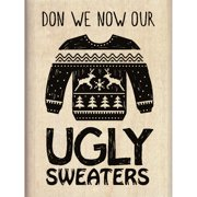 "Inkadinkado Mounted Rubber Stamp 2.25""X3""-Ugly Sweater"