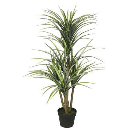 Vickerman TA170301 Plastic Green yucca X7 Everyday Tree with Pot-Green - 40 in. - image 1 of 1