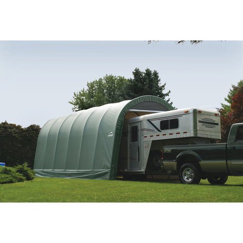 ShelterLogic 15' x 20' x 12' Round Style Shelter, Gray