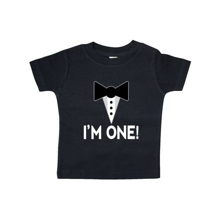 First Birthday Outfit Mock Tuxedo Im One Baby T Shirt