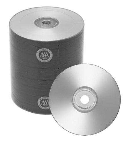 100 Spin-X Diamond Certified 48x CD-R 80min 700MB Silver Inkjet Printable