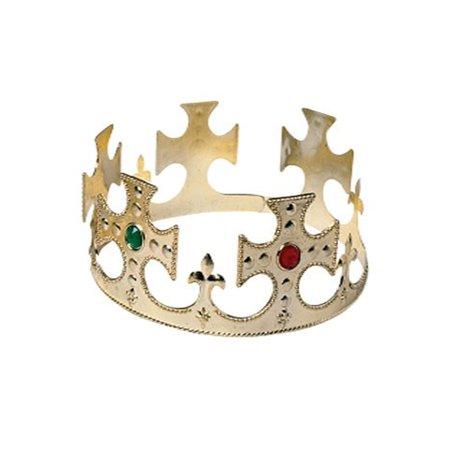 Prom King And Queen Crowns (Gold King Crown with Jewels Royal Regal Queen Gift Halloween Costume)