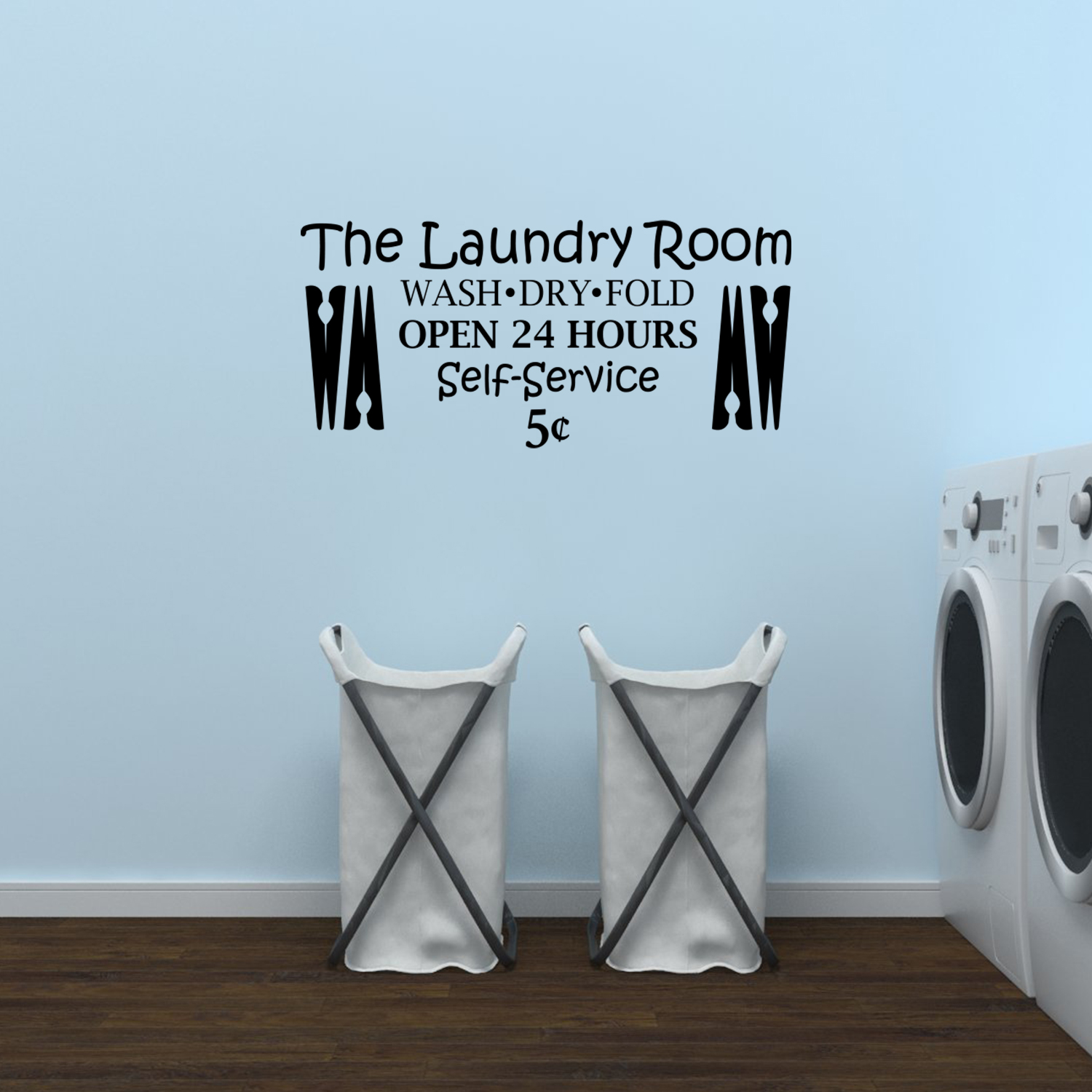 Laundry Room Wash Dry Fold Open 24 Hours Wall Decal Quote Laundry Wall Art Jm180 Walmart Com Walmart Com