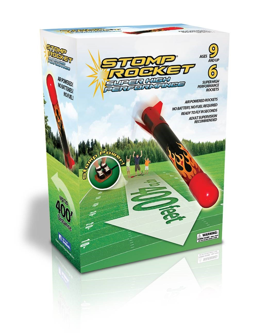 Stomp Rocket Super High Performance, 6 Rockets by D&L Company
