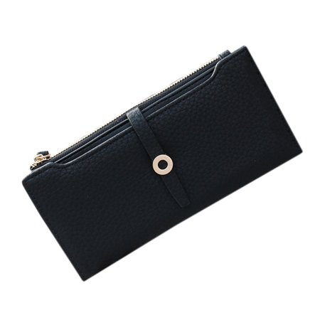 Fashion Women PU Leather Lady Girl Handbag Wallet Button Clutch Card Case Coin Bag Hand Bag Valentine's Day Gifts
