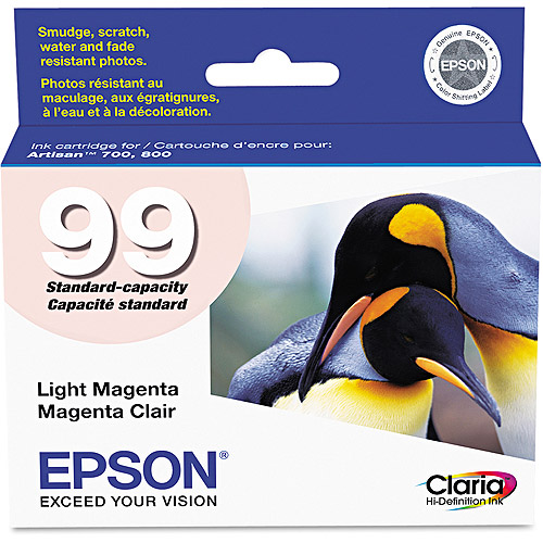 Epson 99 Inkjet Print Cartridge, Light Magenta (T099920)