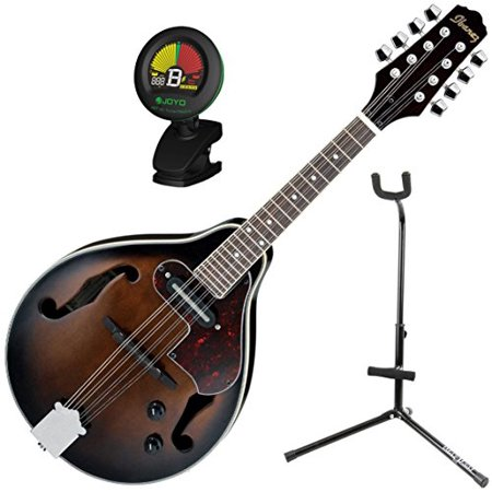 Ibanez M510EDVS A Style Electric Acoustic Mandolin Dark Violin Sunburst w/ Stand and