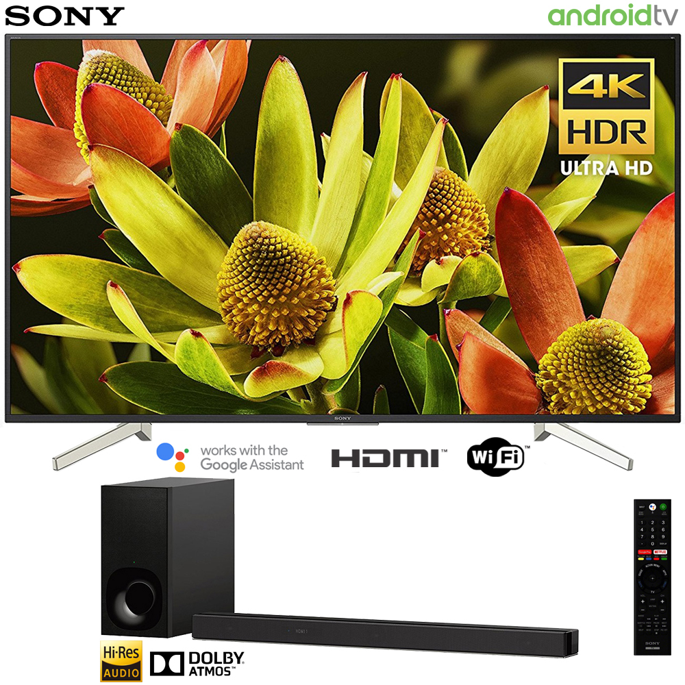 "Sony 70"" Class 4K Ultra HD (2160P) HDR Android Smart LED TV (XBR70X830F) with Sony HT-Z9F 3.1ch Soundbar with Dolby Atmos"