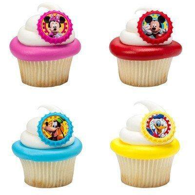 mickey mouse clubhouse you bethcha! cupcake rings - 24 ct - Mickey Mouse Cupcake