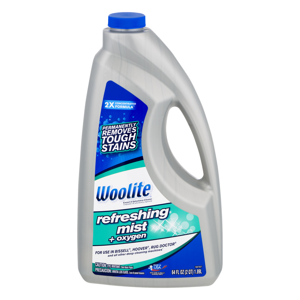 Woolite Refreshing Mist + Oxy Formula for Full Size Carpet Cleaners, 64 oz