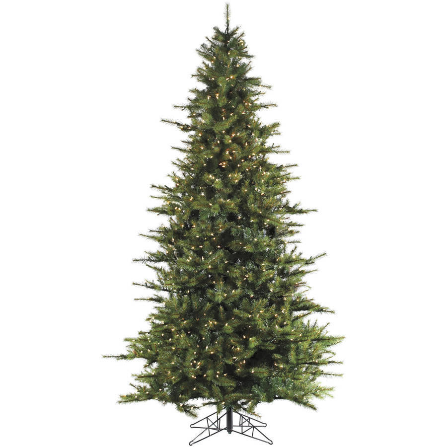 Fraser Hill Farm Pre-Lit 7.5' Southern Peace Pine Artificial Christmas Tree with Smart String Lighting