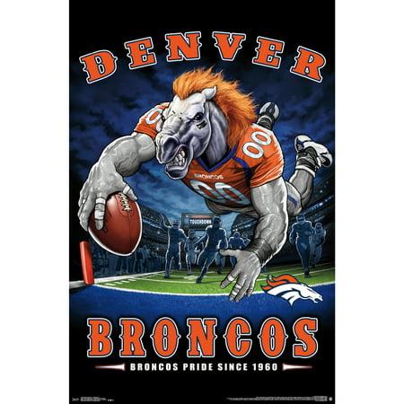 Denver Broncos Liquid Blue Designs 22'' x 34'' End Zone Poster - No - Denver Broncos Nail Designs