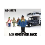 """""""One Eyed Jack Trailer Park"""" Figure For 1:24 Diecast Model Cars by American Diorama"""