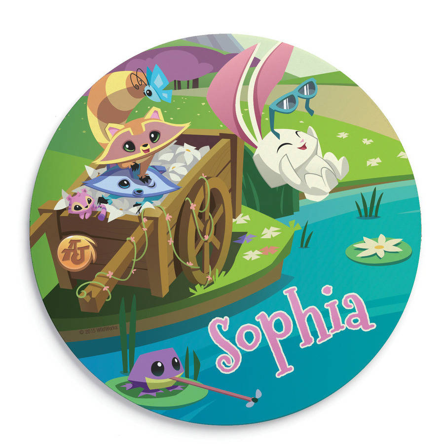 Personalized Animal Jam Playful Pals Round Mouse Pad