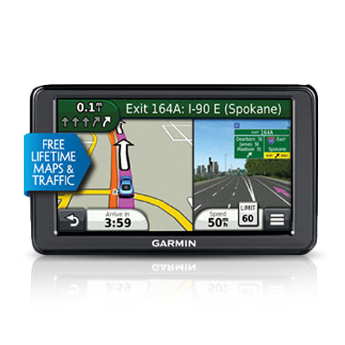 "Garmin Nuvi 2595LMT 5"" GPS Navigator w/ power cable"