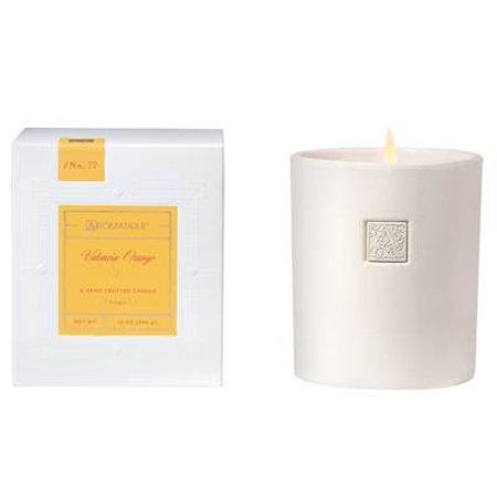 VALENCIA ORANGE Aromatique Large Boxed 12 oz White Ceramic Scented Jar Candle