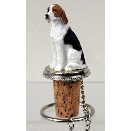American Foxhound Dog Bottle Buddy (3 in), Each figurine is carefully hand painted for that extra bit of realism. By Conversation Concepts Ship from US