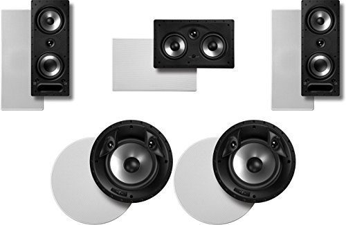 Polk Audio Surround System: Pair of 265-rt, 1 255c-rt In-wall, Pair of 80F Xrt by Polk Audio