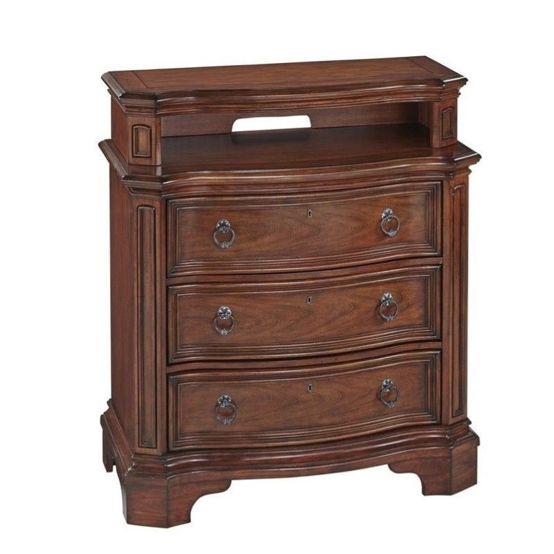 Bowery Hill 3 Drawer Media Chest in Cognac