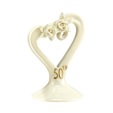 Hortense B. Hewitt Wedding Accessories 50th Anniversary Pearl Rose Cake Top ()