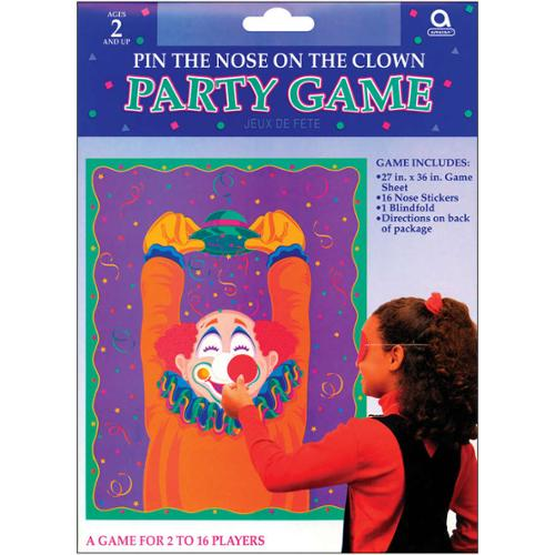 Party Game-Pin The Nose On The Clown
