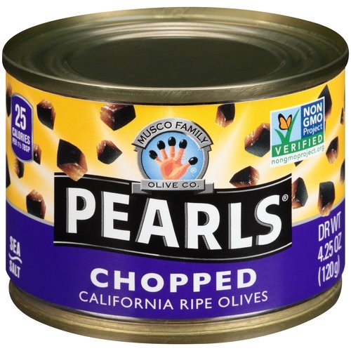 Pearls California Ripe Olives, Chopped, 4.25 Oz