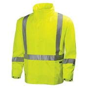 HELLY HANSEN 70261_360-XL Rain Jacket,Hi-Visibility Yellow,XL G1839446