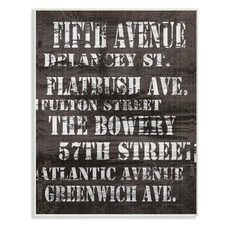 The Stupell Home Decor Collection Fifth Avenue New York City Streets Wall Plaque