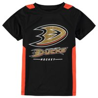 Anaheim Ducks Fanatics Branded Youth Lockup Poly Colorblock T-Shirt - Black