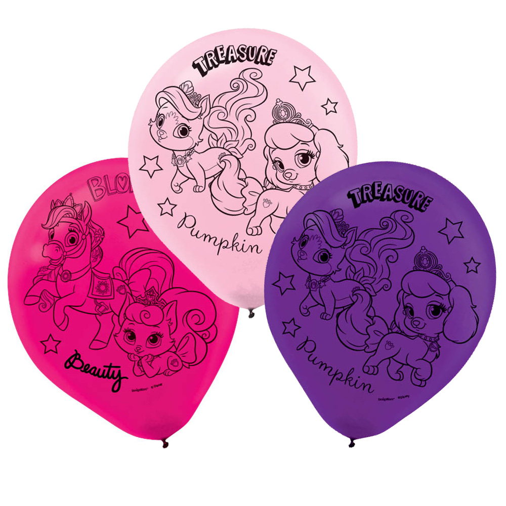 Disney Princess 'Palace Pets' Latex Balloons (6ct)