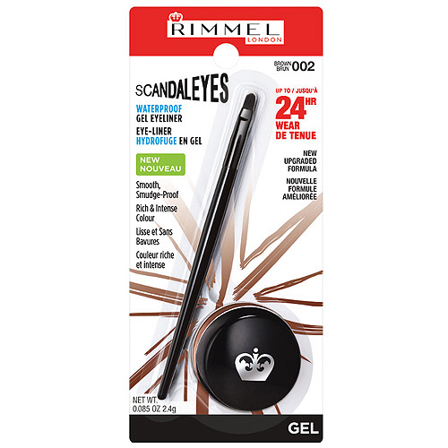 Rimmel London Scandaleyes Waterproof Gel Eyeliner, 002 Brown, 0.085 oz