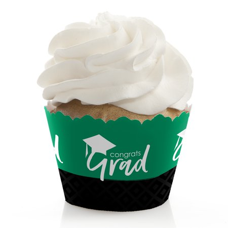 Green Grad - Best is Yet to Come - Green Graduation Party Cupcake Wrappers - Set of