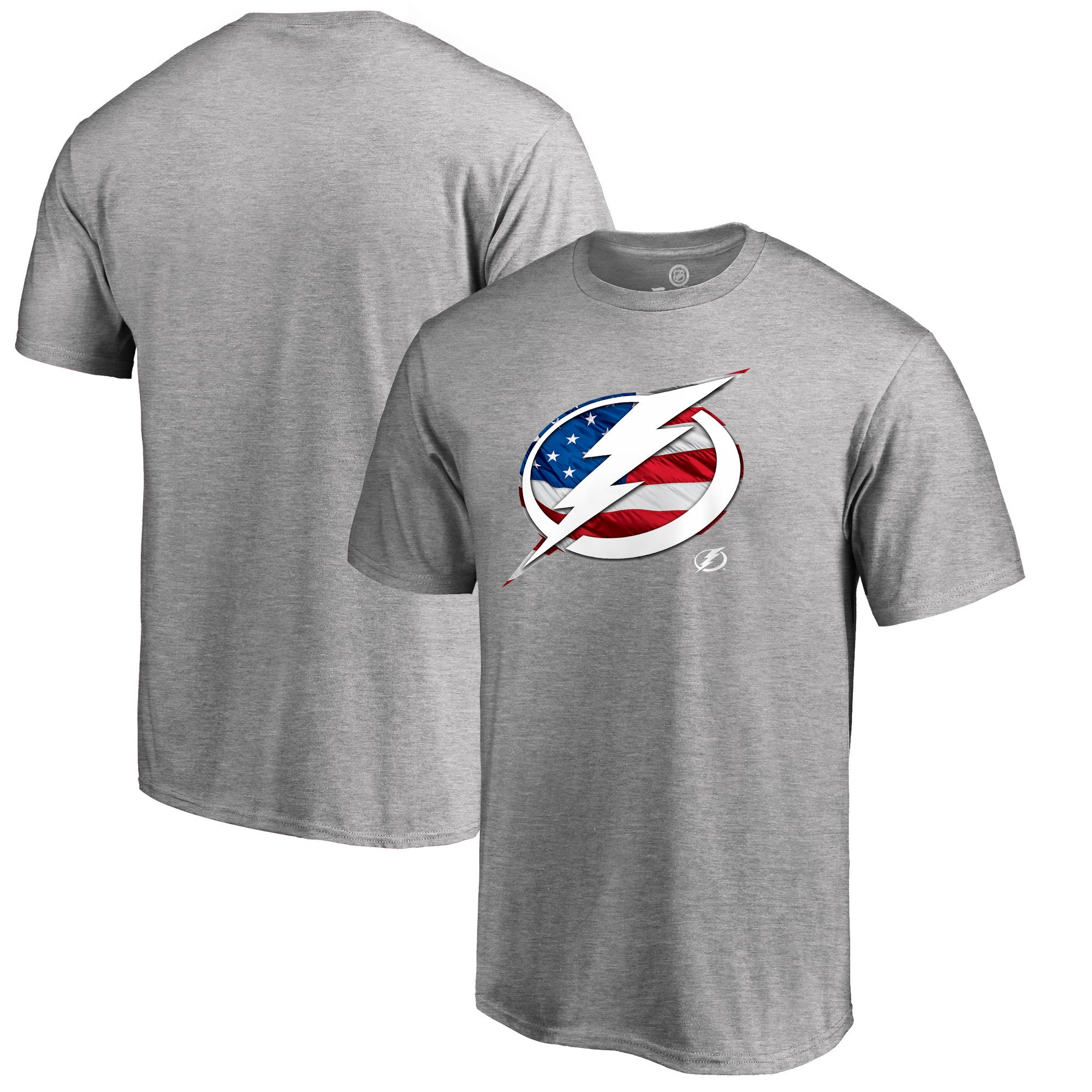 Tampa Bay Lightning Fanatics Branded Banner Wave T-Shirt - Ash