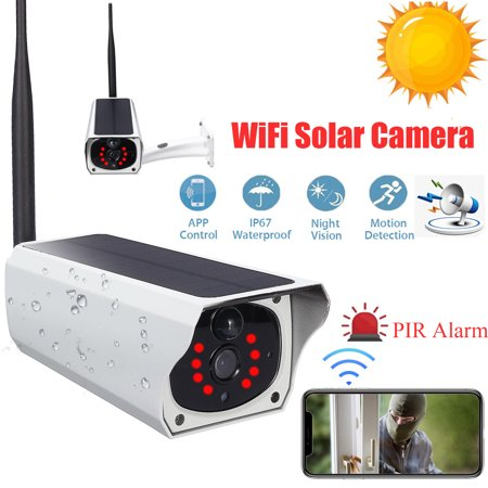 2019 NEW Outdoor IPX67 Waterproof HD 1080P Solar & Battery Power Security Camera Wireless WIFI B ullet IP Camera 2MP IR-CUT Night Vision PIR Motion Detection Android/iOS