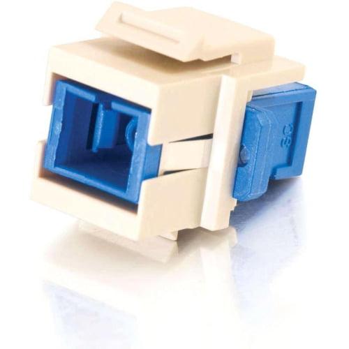 C2G 03816 C2G Snap-In SC Fiber F/F Keystone Insert Module - Ivory - SC
