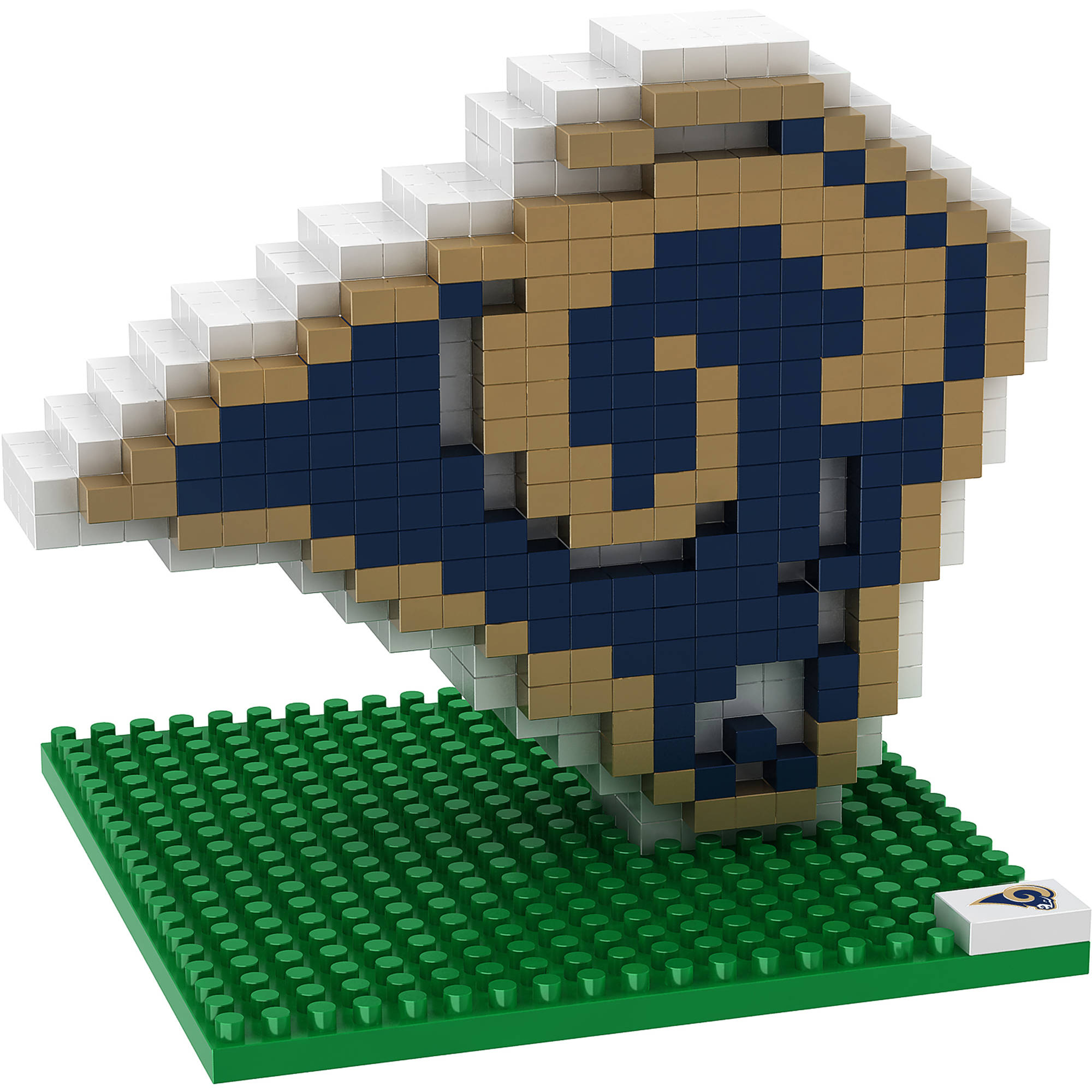 Forever Collectibles NFL 3D BRXLZ Logo Building Blocks, Los Angeles Rams